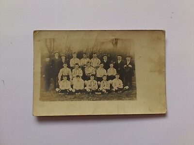 Old Postcard Early Photograph CAFC Football Team Posted 1904 Cirencester