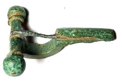 Ancient Rome Bronze Fibulae 300/400 Ad Crossbow Style Intact Found In Balkans