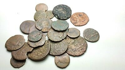 Lot Of 22  Low Grade Ancient Roman And Greek Coin Scu888Hb