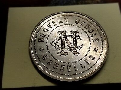 "Undated 5 Francs Token -Brussels ""new Circle Of Commerce"" Old Collection"