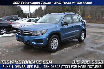 Tiguan Limited NO RESERVE 2017 Volkswagen Tiguan AWD Turbo Rebuildable SUV Repairable Damaged Wrecked