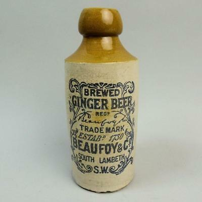 Victorian Beaufoy & Co South Lambeth London Ginger Beer Bottle C.1890