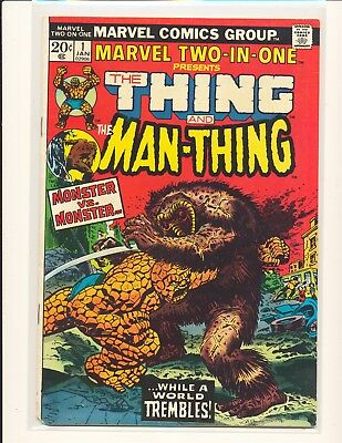 Marvel Two-In-One # 1 - Thing & Man-Thing G/VG Cond.