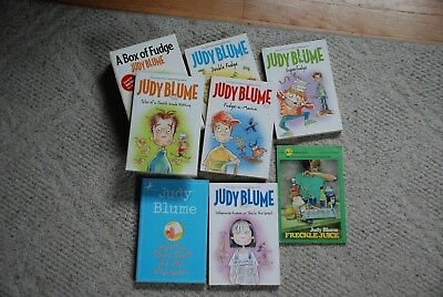Lot of 7 Childrens Books by JUDY BLUME, including BOX OF FUDGE