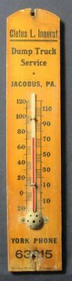 Vintage Jacobus York County Pa Dump Truck Service Wall Thermometer Innerst