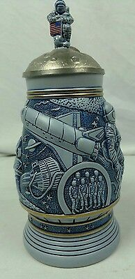 """Avon CONQUEST OF SPACE Stein  9 1/2"""" - Beer Mug - PLUTO Is Listed As A Planet"""