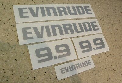 Evinrude 9.9 Vintage Outboard Motor Decal Kit FREE SHIP + FREE Fish Decal!