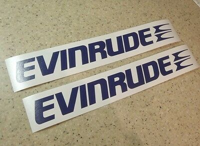 "Evinrude Vintage Outboard Motor Decal 12"" 2-PK FREE SHIP + FREE Bass Fish Decal!"