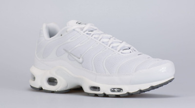 18905d8879 NIKE AIR Max Plus Triple White/Black-Cool Grey Men's Running Shoes 604133- 139 - $149.95 | PicClick
