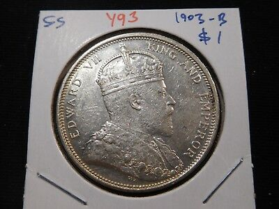 Y93 British Straits Settlements 1903-B Dollar
