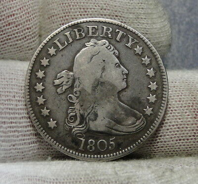 1804 Draped Bust Quarter 25 Cents -  Key Date, Nice Coin, Free Shipping. (7251)