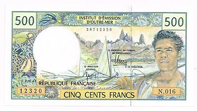 1992 FRENCH PACIFIC TERRITORIES 500 FRANCS NOTE - p1g