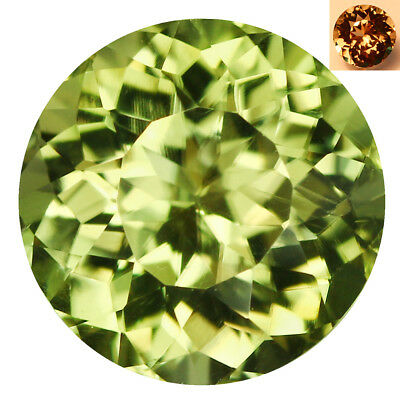 2.92Ct IF Shimmering Round Cut 9 x 9 mm AAA Color Change Turkish Diaspore