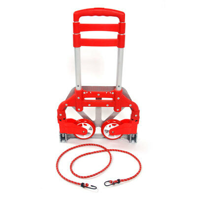 New 170lbs Luggage Cart Folding Dolly Push Truck Hand Collapsible Trolley Red