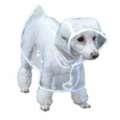Bunty Dog Puppy PVC Waterproof Clear Transparent Rain Coat Jacket Hood Hooded