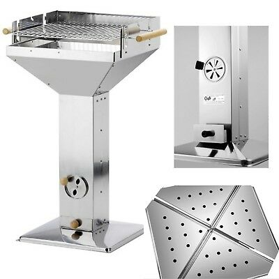 Activa Standgrill BBQ Grill Holzkohle Trichtergrill Säulengrill Holzkohlegrill