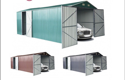 metal garden shed outdoor storage garage car motorbike workshop 5x3m