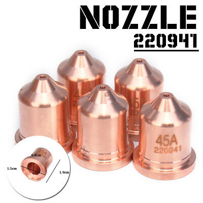5x 20941 Electrode Tip Nozzle Cutting Plasma Aftermarket Consumable For PMX 45A