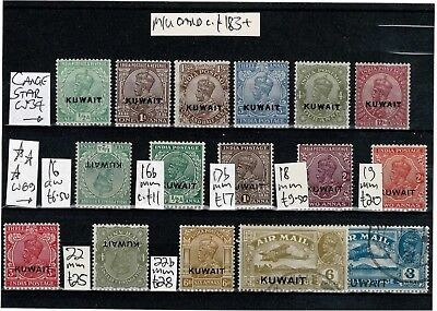 #638 Kuwait ovpts on India GV M/U collection on card c£183+ (16)