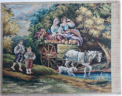 Large Berlin Woolwork Pattern Chart Tapestry Needlepoint Embroidery French