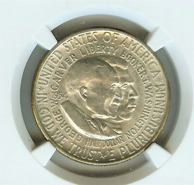 1954-S Washington-Carver Silver 50 Cents Ngc Ms64
