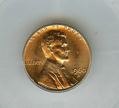 1960-D Lincoln Memorial Cent -Large Date- Icg Ms67 Red Scarce This Nice!
