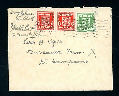 Guernsey 1943  Occupation Cover to St Sampsons   (My1065)