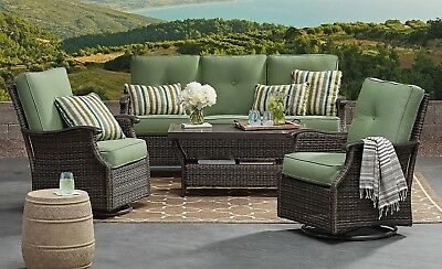 Astounding 6Pc Outdoor Patio Wicker Seating Set Sofa Chairs Tables Uwap Interior Chair Design Uwaporg
