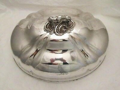 A Very Large Old Sheffield Plate Meat Dome - Harpy Crest - C1830 Walker Knowles