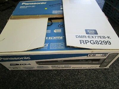 Panasonic DMR-EX77 DVD & HD Recorder, Freeview, PAL HDMI, Boxed Complete Working