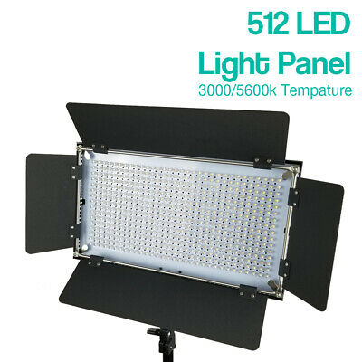 Photography Photo Studio 512 LED Barn Door Panel Light 5600K Continuous Lighting