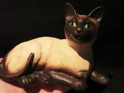 Beswick Vintage Bisque Finish Siamese Cat Lying Down #1559