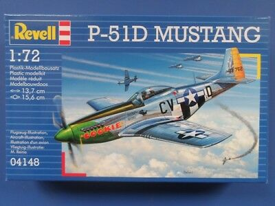 Revell P-51D Mustang Aircraft Model Kit 1:72 Scale - 04148