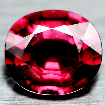 2.60 Ct Aaa Natural Pinkish Red Africa Rhodolite Garnet Oval