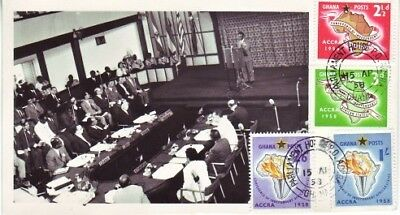 Ghana - 1st Conference of Independent African States (Photo PO FDC) 1958