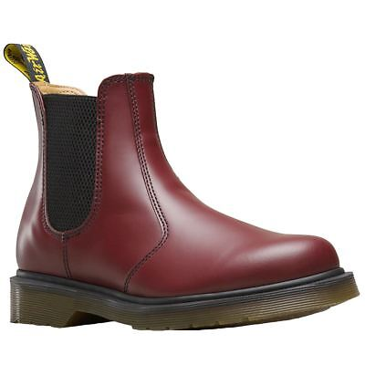 Dr.Martens 2976 Cherry Red Womens Leather Slip-On Ankle Chelsea Boots