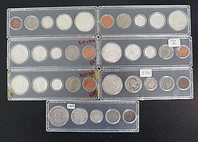 7 Silver Sets Silver United States Proof Silver 1952 1953 1954 1960 3-1963