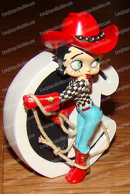 Betty Boop Alphabet, Letter C (by Westland, 6743) Cowgirl w/Hat, Boots and Spirs