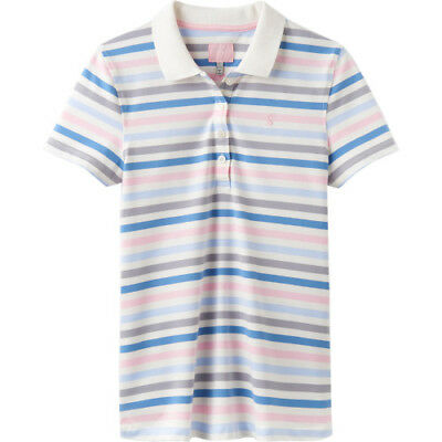 4cf84a90 Joules Pippa Print Womens T-shirt Polo Shirt - Blue And Pink Stripe All  Sizes