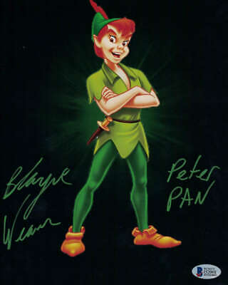 Blayne Weaver Autographed/Signed Peter Pan 8x10 Photo Disney BAS 21446