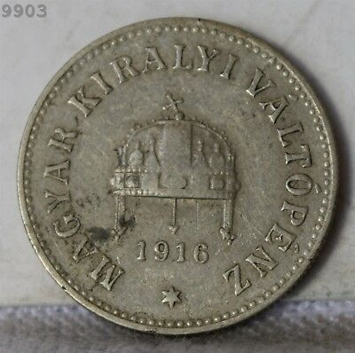 1916 Hungary 10 Filler *Free S/H After 1st Item*