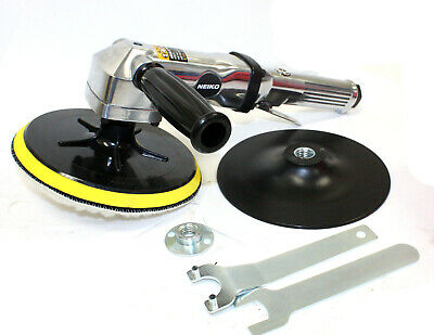 "7"" Stainless Pneumatic Air Angle Polisher Buffer Variable Speed 1,500-2,600 RPM"