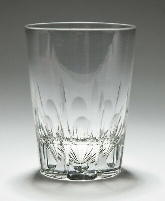 Antique Edwardian Mitre and Lens Cut Whisky Tumbler Drinking Glass