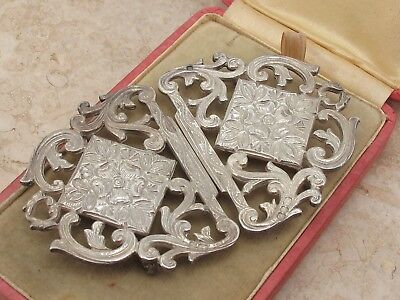 Vintage Sterling Silver 925 Ornate Belt Buckle 46.4g