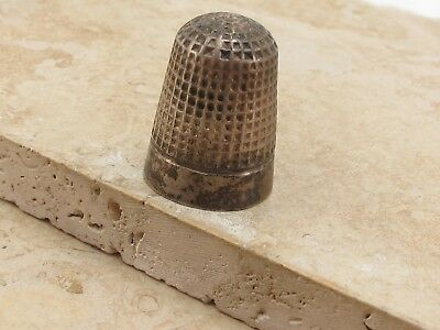 Vintage Antique Chester Sterling Silver 925 Thimble
