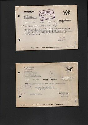 SONDERSHAUSEN, 2 x Brief 1959/63, Hauptpostamt