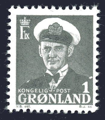 Greenland 1950 1 Ore King Frederik IX Mint Unhinged