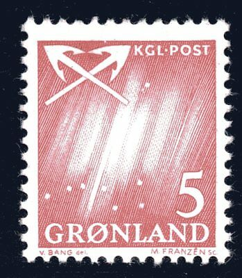 Greenland 1963 5 Ore Northern Lights Mint Unhinged