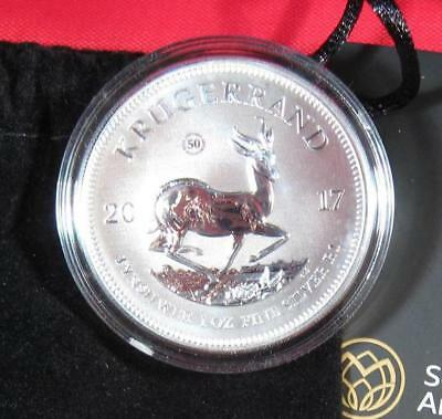 2017 South Africa 1 oz. .999 Silver Krugerrand GEM Premium BU W/ COA and Pouch