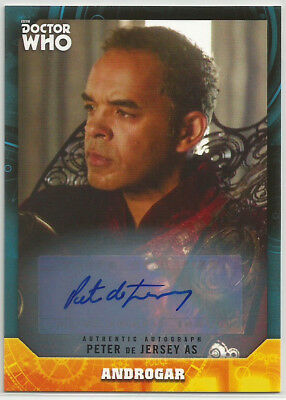 Doctor Who Signature Series 2017 ~ PETER de JERSEY Auto/Autograph Card Androgar